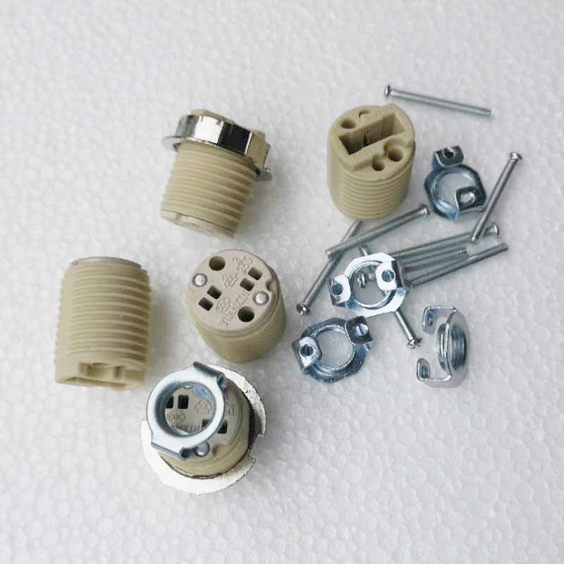Lighting Accessories G9 Lamp Socket Ceramic G9 Lamp Holder G9 lamp Base 110-240V Ceramic Socket G9 Type Halogen Lamp Holder