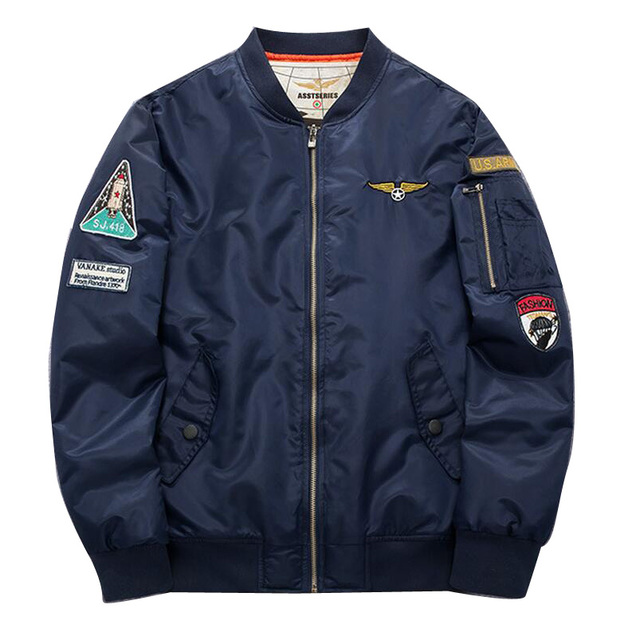 Плюс Размер 4XL 5XL Мужчины Куртку 2016 Air Force One хип-Хоп Патч Дизайн Тонкий Летчик Бомбардировщик Куртка Пальто Мужчины chaqueta hombre
