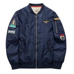 Plus size 4xl 5xl men bomber jacket 2016 air force one hip hop patch designs slim.jpg 250x250
