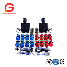 DIY American style joystick push button micro switch PC USB encoder 1 player/2 player