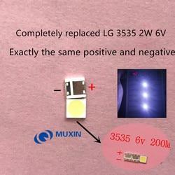500 LG LED SMD 3535 6 pçs/lote V Branco Frio 2 W Para TV/LCD Backlight