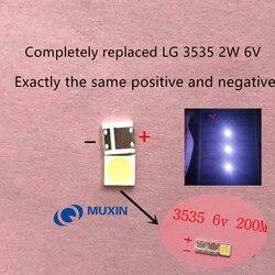 500 LG LED SMD 3535 6 pçs/lote V Branco Frio 2W Para TV/LCD Backlight