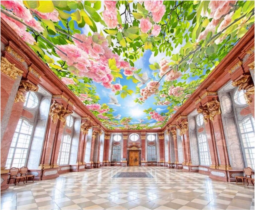 Custom photo 3d ceiling murals wallpaper decor painting Flowers blue sky dove living room 3d wall murals wallpaper for walls 3 d mini usb 2 0 tf nano micro sd sdhc sdxc memory card reader writer usb flash drive memory card readers