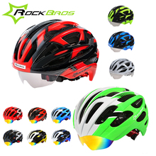 Rockbros Professional Bike Helmet Integrally-Molded Helmet Bicicleta Mountain Bike Cycling Bicycle Helmet With 3 Lens Cascos MTB