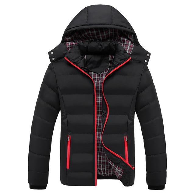 Высокое качество 90% хлопок толстый пуховик Мужское пальто зимние парки пальто Мужская теплая брендовая одежда зимние пуховики Верхняя одежда