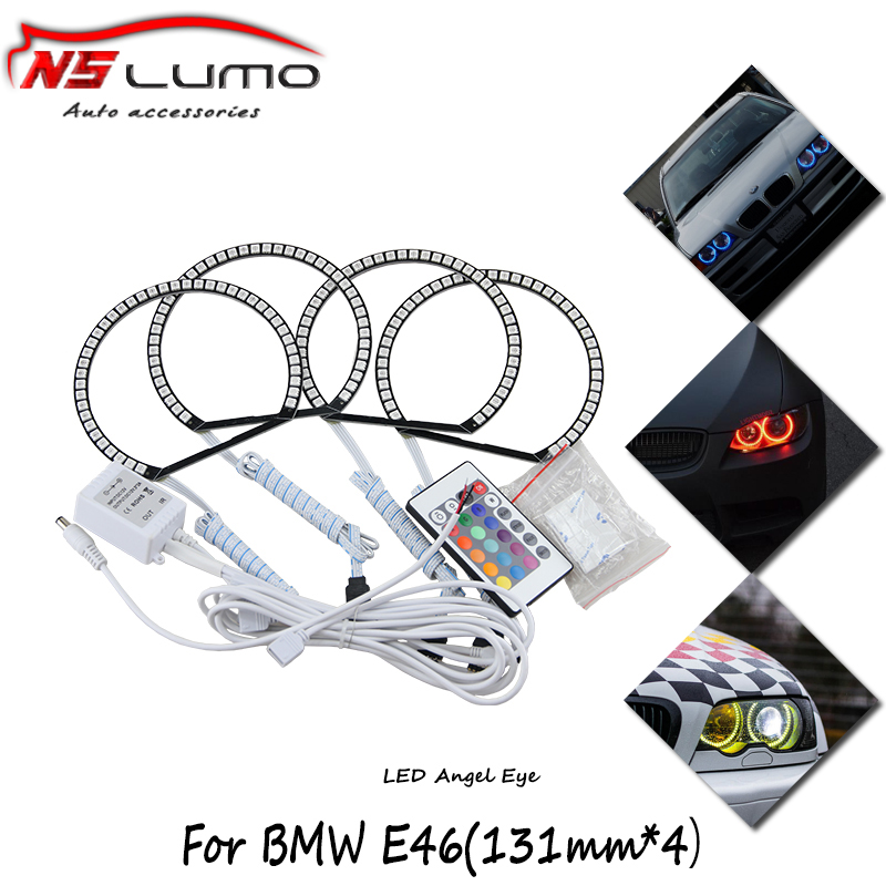 Multi-color RGB color change LED Angel Eyes Light Headlight with Halo Ring Remote Control for BMW E36 E38 E46 E39 ollin professional шампунь на основе черного риса based shampoo black rice 400 мл