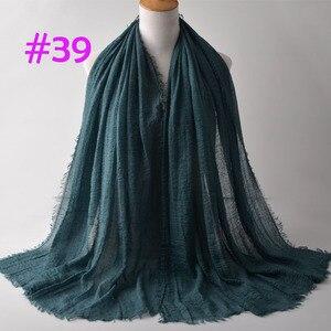 Image 5 - Crinkle Plain Wrinkle Wrap,bubble cotton muslim hijab,Soft Islam scarf,Viscose Maxi crinkle scarves,solid scarf,Head Hijab shawl
