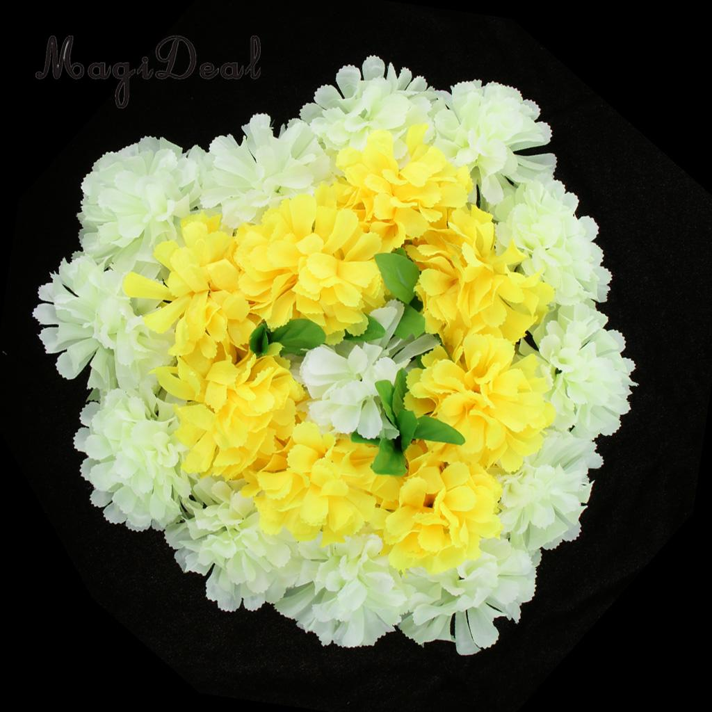Artificial Silk Chrysanthemum Flowers Arrangement for Funeral Memorial Grave