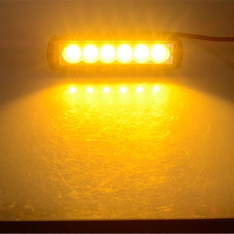 6 Inch 18w Led Driving Fog Light Bar Spot Flood Yellow
