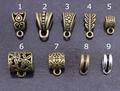 30 pçs/lote Antique Prata/Bronze Chapeado Muitos Estilo Colar Conector Beads Bail Pingente Conectores Para Jóias DIY Fazendo F803