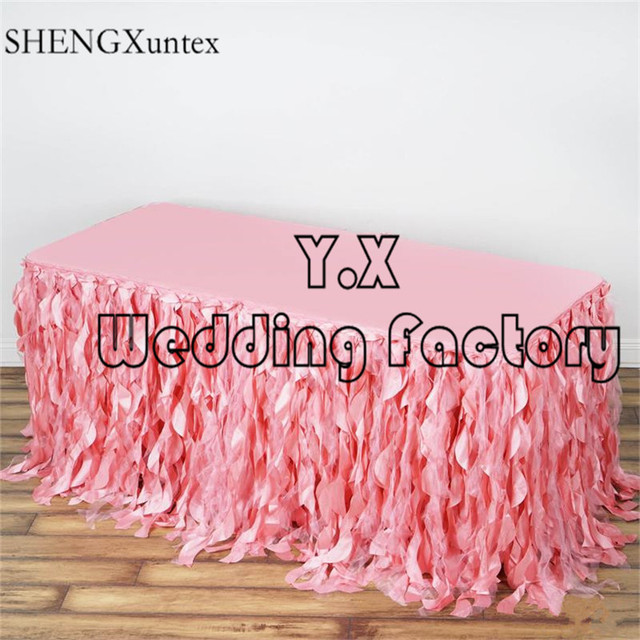Wholesale Price Wicker Taffeta Table Skirt Table Cloth Skirting For