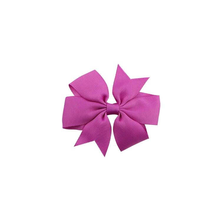 40 цветов сплошная корсажная лента банты заколки шпилька девушка бант для волос, бутик заколки для волос аксессуары для волос - Color: a33 Light Rose