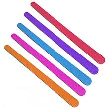 20 шт./лот, цветная пилка для ногтей, шлифовальный буфер, двусторонний лак для ногтей 150/150 гритов, блоки для педикюра, маникюра, инструменты для красоты ногтей