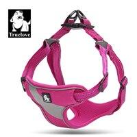 Truelove Adjustable Easy On Dog Harness 3M Reflective Dog Halter Protective Nylon Walking Dog Harness Vest