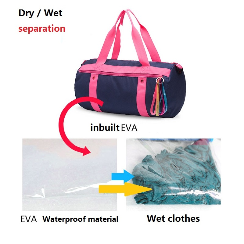 68a138650cd4 Female Nylon Waterproof Gym bag EVA Material Separated from Wet Dry for  Women Yoga Fitness Training Swimming Travel sport bags-in Gym Bags from  Sports ...