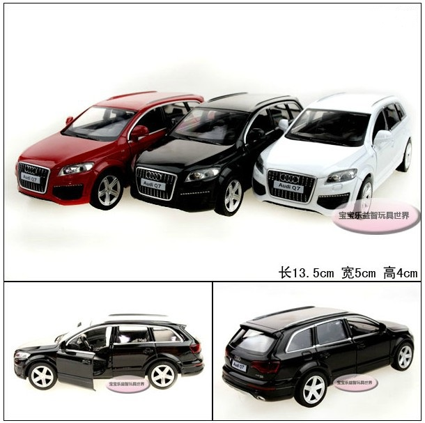 Candice guo! Yufeng Super cool 1:32 mini Audi Q7 SUV alloy model car toy birthday gift 1pc