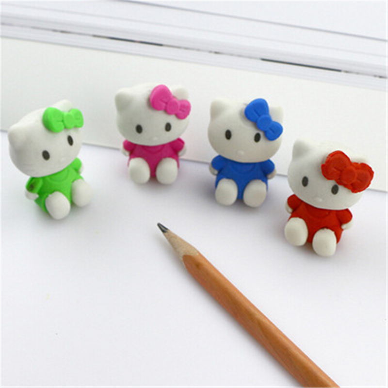 Korean student stationery primary school gifts lovable bow tie KT cat eraser diploma gifts Stationery office supplies for-in Eraser from Office & School ...