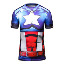 Cody Lundin Men's Star War Superhero Captain America T Shirt Men Compression Bodybuilding Gym Clothing