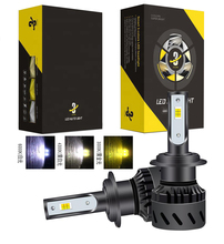 1 Set H7 Tri-color 3-Color Changing K9 LED Headlight H1 H3 H4 H8 H9 H11 9005 9006 9012 3000K Golden Yellow 4300K 6000K White Fog
