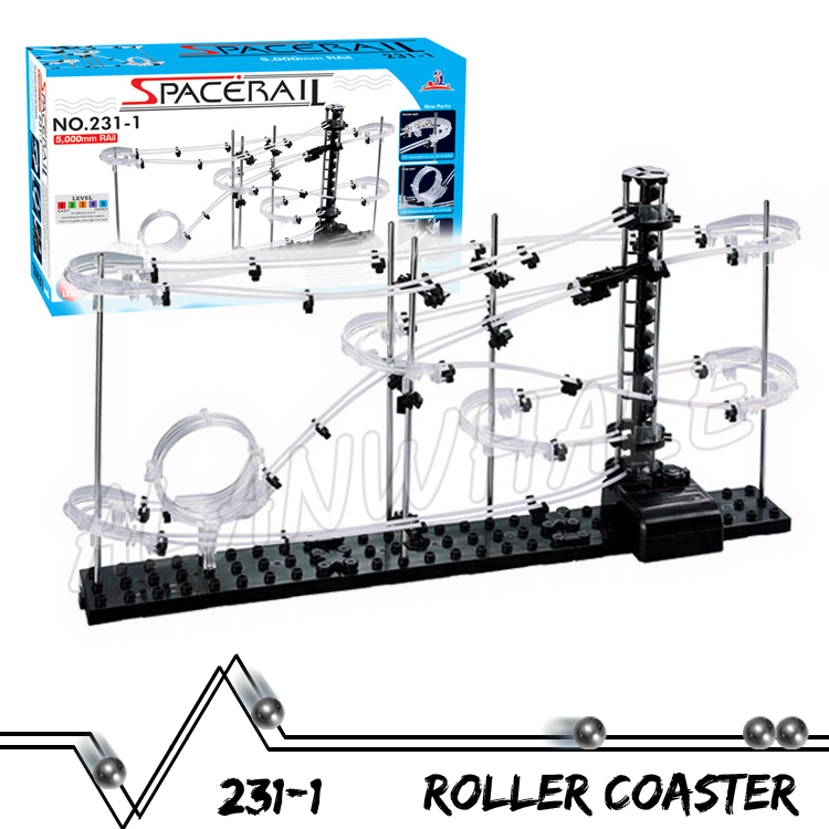 500cm Rail Level 1 Marble Run Maze Roller Coaster Electric Elevator Model Building Kit STEM Learning Toys Rolling ball Sculpture 3000cm rail level 5 marble run night luminous glow in the dark roller coaster model building gifts maze rolling ball sculpture