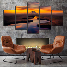 5 Pieces Landscape Painting Home HD Print Artwork The Wall Art Modern Paintings Canvas Living Room