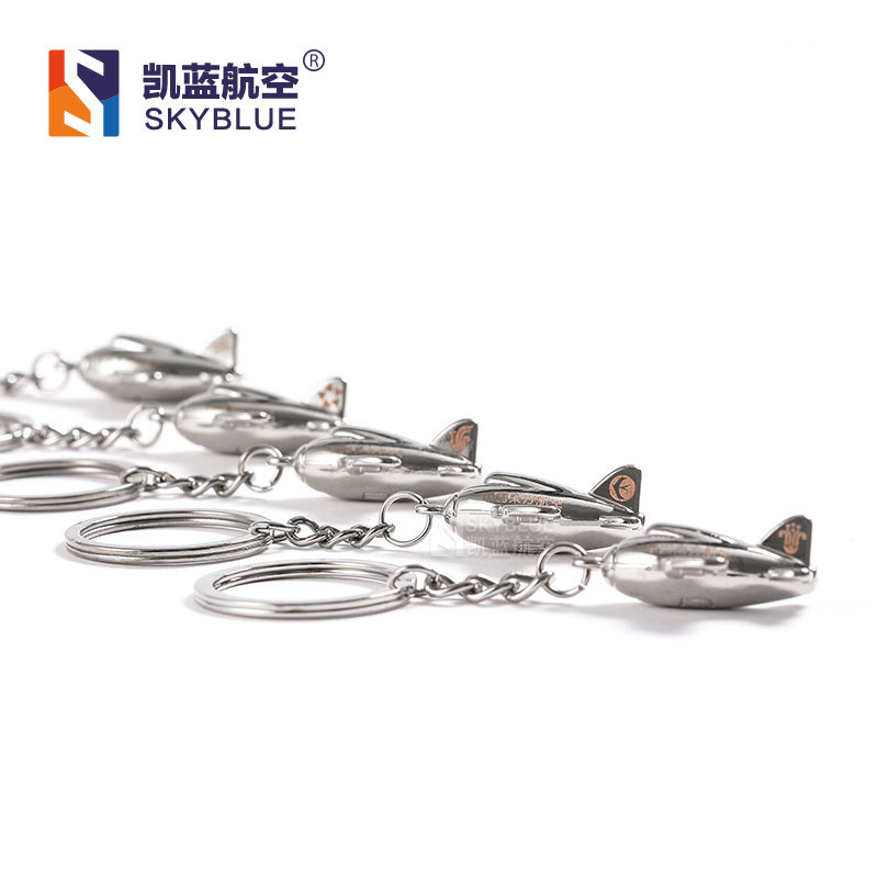 Metal Air Plane Aircraft Shape Silver Color Travel Luggage