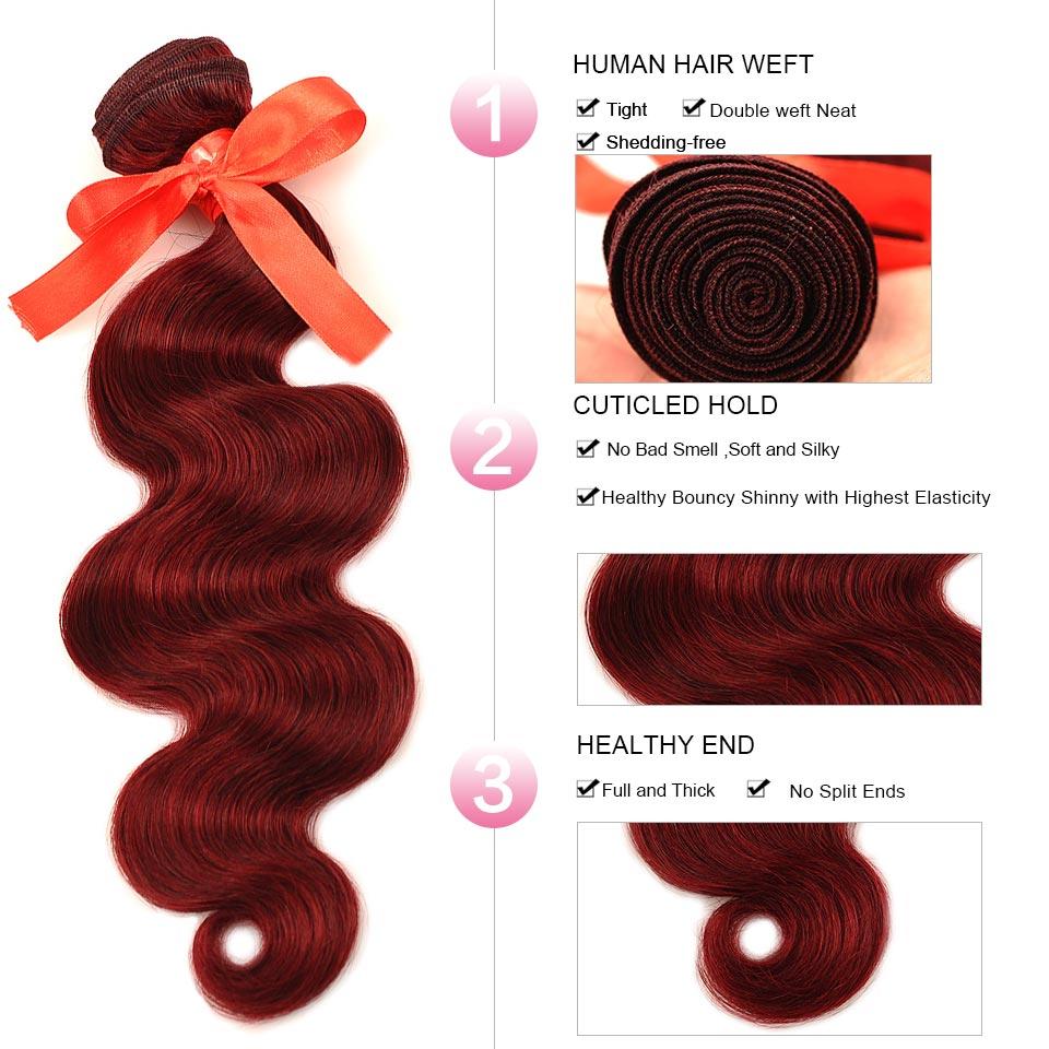 HTB1h2gPrFuWBuNjSszbq6AS7FXaC Pinshair 99J Hair Red Burgundy Bundles With Closure Brazilian Body Wave Human Hair Weave Bundles With Closure Non Remy No Tangle