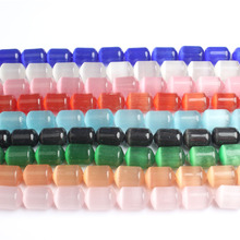 LanLi  natural jewelry 10x14mm multicolor Cats-Eys Stone loose Beads DIY Bracelet Necklace anklet eardrop Accessories