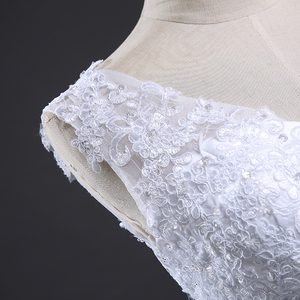 Image 4 - Fansmile Backless Lace Long Train Ball Wedding Dresses 2020 Bridal Dress Wedding Gowns Vestidos de Novia Robe de Mariee FSM 099T