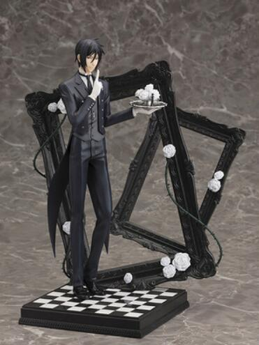 ФОТО Anime Black Butler Sebastian Michaelis Book of Cirus pvc action figure model toy doll juguetes child brinquedos 25cm 9.8