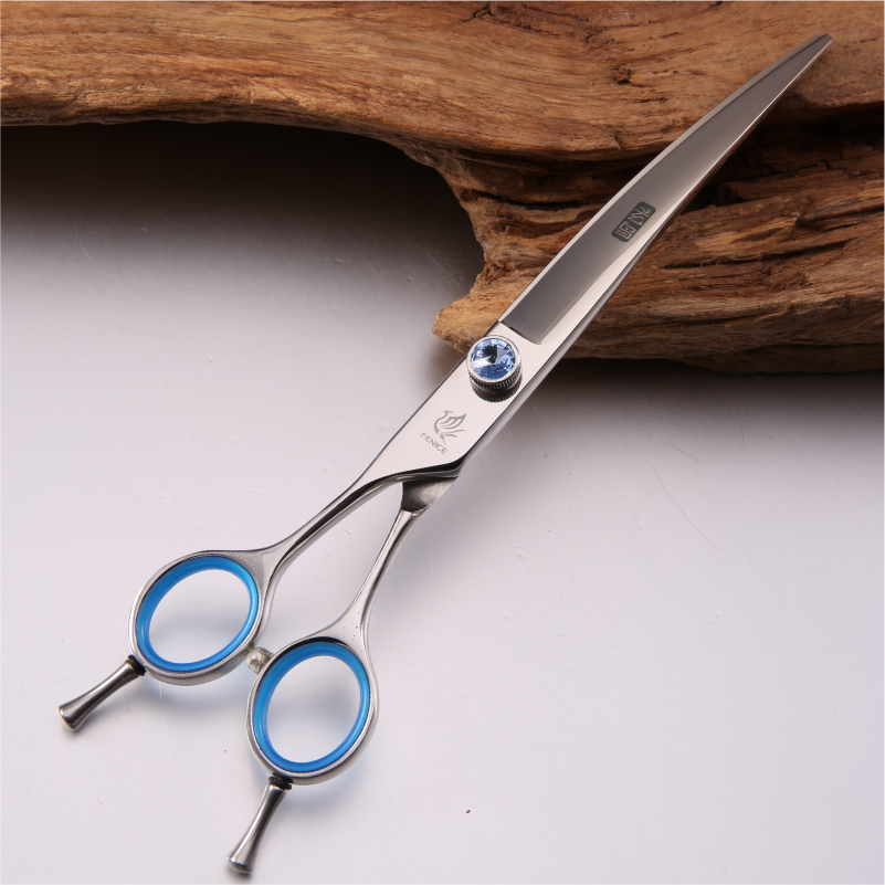Fenice professional japan 440c 7 5 inch 8 inch pet grooming left hand curved scissors
