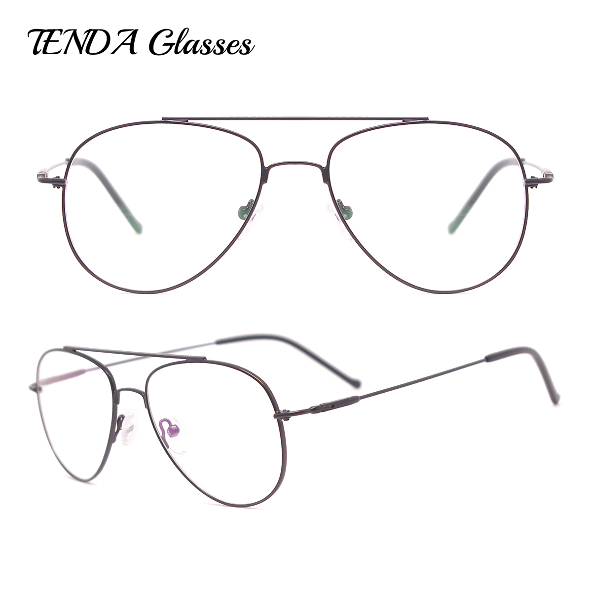 TendaGlasses Metal Full Rim Small Pilot Eyeglass Frames Mænd Briller Til Prescription Myopi Multifocal Solbriller Objektiver