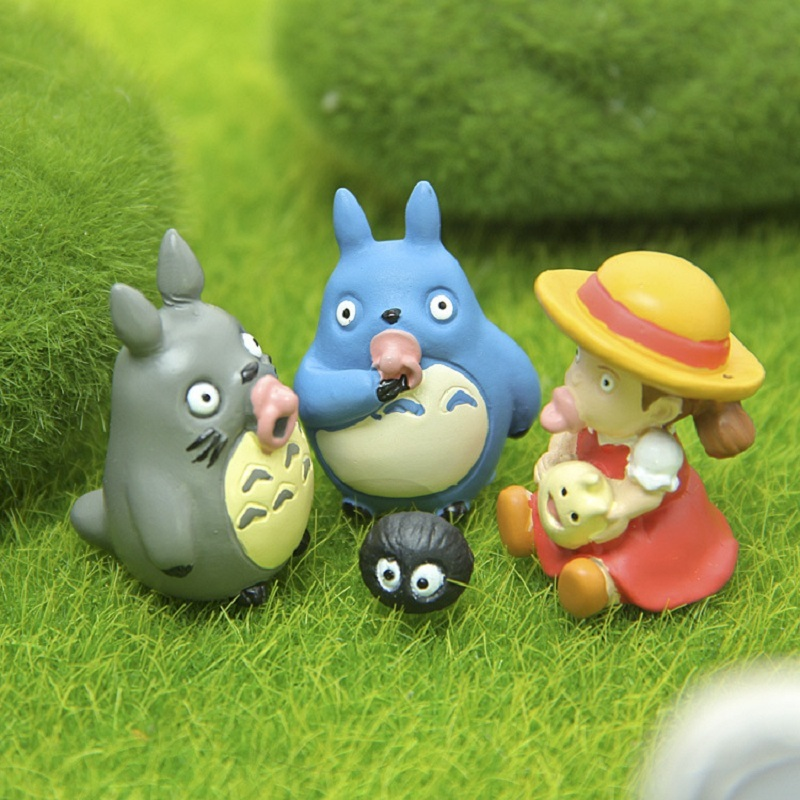 <font><b>4</b></font> Styles <font><b>Miyazaki</b></font> <font><b>Hayao</b></font> <font><b>My</b></font> Neighbor <font><b>Totoro</b></font> PVC Figure Toys Blue <font><b>Totoro</b></font> May Jicha Nippl Collection Model Kids Gifts for Christmas