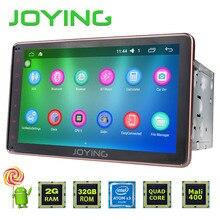 JOYING Android 6.0 Jefe Unidad de Estéreo Del Coche 2 GB RAM Intel Quad núcleo Doble Pantalla Táctil 2 Din Indash Radio GPS Navi con Manos Libres BT