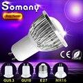 Dimmable Lampara Lamp GU10 GU5.3 E27 110V 220V Led Light MR16 12V Spot Lamp Bombilla Luz Aluminum Cooling COB Led Spotlight Bulb