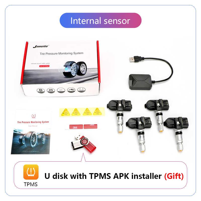 JMCQ USB アンドロイド TPMS タイヤ空気圧監視システム 116 Psi 警報システム 5 V 内部外部アンドロイドナビゲーションカーラジオ