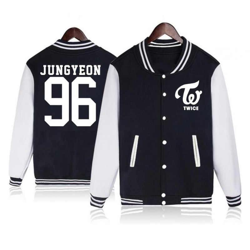 Vsenfo Kpop Tweemaal Hoodie Nay Eon Jungyeon Momo Sana Jihyo Chae Jonge Mini Dahyun Chae Jonge Sweater Voor Jongens Meisjes baseball