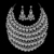 2016 Nueva Joyería de La Boda de Oro Y Plata Chapado Completo Crystal Collar y Aretes de Joyería Nupcial Africana establece QXQ-G055