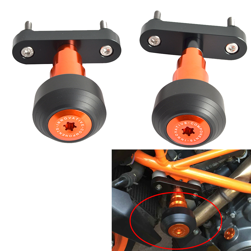 NICECNC Left Right Frame Slider Engine Crash Pads Falling Protector For KTM Duke 125 200 390 2013-2017 2018 Duke 250 2017 2018 motorcycle rear brake master cylinder reservoir cove for ktm duke 125 200 390 rc200 rc390 2012 2013 2014
