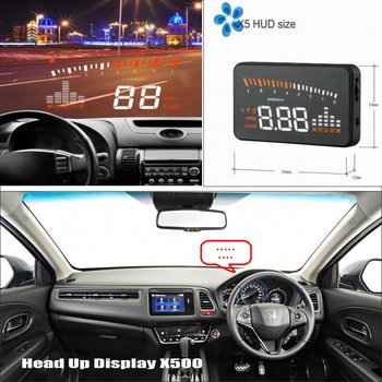 Car HUD Head Up Display For Honda CR-V/FR-V/HR-V/MR-V CRV/FRV/HRV/MRV AUTO HUD OBD Windshield Screen Safe Driving Projector