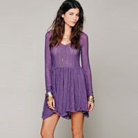 Look Both Ways Autumn Mesh Lace Dress V Neck Long Sleeve Asymmetrical Maxi Hippie Vestidos Elegant Women Cock Tail Party Dress