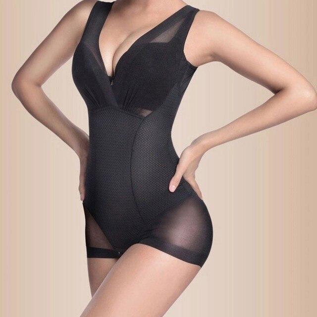 Beste Dame Nude Schwarz Slip Body Formerunternehmen Bauch-steuerunterbrust Shapewear L XL XXL XM