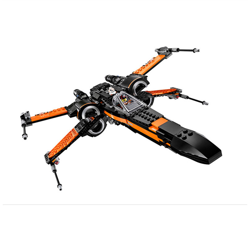 HOT Star First Wars Order Poe's X Toys Wing Fighter Building Blocks Assembled Compatible Lepins Educational Toys DIY Gift hot sale building blocks assembled star first wars order poe s x toys wing fighter compatible lepins educational toys diy gift