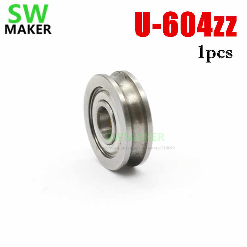 SWMAKER 4*13*4มิลลิเมตรเครื่องพิมพ์3D U604zzแบริ่งเครื่องอัดรีดคู่มือล้อU g rooveคู่มือแบริ่งMK8เครื่องอัดรีด