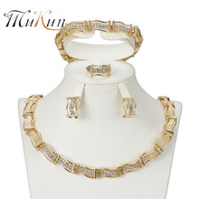 MUKUN free shipping Wedding Bridal Costume Jewelry Sets for femme Gold-color Women jewelry set 2018 African Necklace set xt qu gold color jewelry set austrian crystal big necklace and drop earring wedding jewelry sets for bridal free shipping