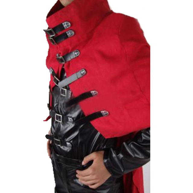 Final Fantasy Vincent Valentine Cosplay Final Fantasy Costume with cape Any Size Custom Made