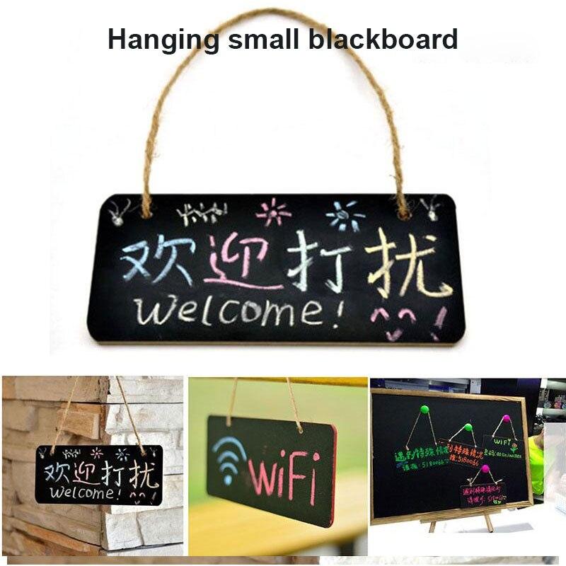 Hanging Blackboard Wooden Message Board Chalkboard Stationery Memo Pad School Supplies Portable Home Decor Writing Marker Pen
