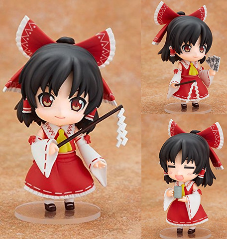 Nendoroid Touhou Project Hakurei Reimu #74 PVC Action Figure Set Model Collection Toy 10cm free shipping cute 4 nendoroid luck star izumi konata pvc action figure set model collection toy 27 mnfg032