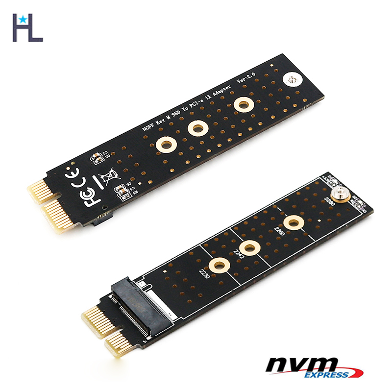 NGFF M.2 M Key SSD to PCIe X1 Adapter