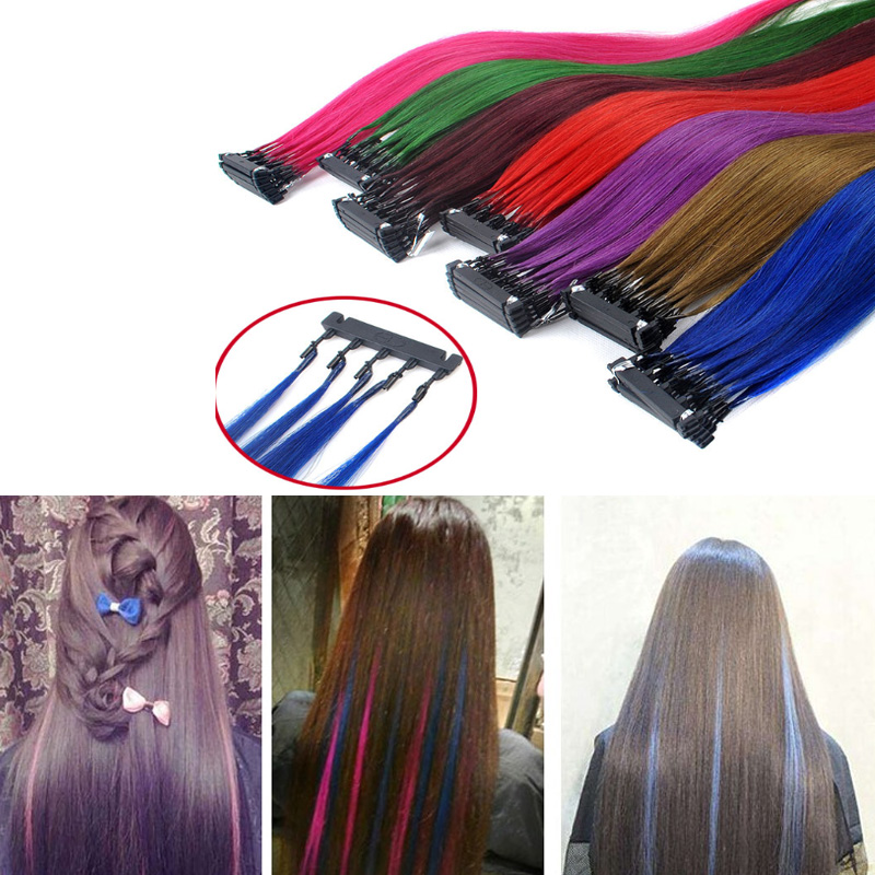 100G Second Generation 6D Human Hair Extensions Can Be Styled Easy apply For Salon Hair Tools